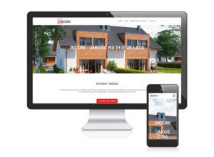 Strona www dla developera INDOM