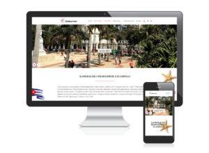 Strona www dla biura podróży Flamingo Travel
