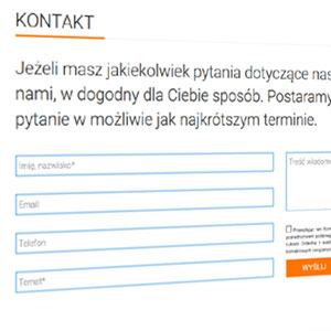 Formularz kontaktowy ze strony www