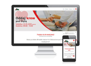Strona internetowa dla akcji Ślężańskie Serce